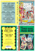 Memorabilia:Miscellaneous, Comic Book Price Guide Cover/Endpaper Proofs Signed byPublisher Bob Overstreet Group of 4 with COAs (Overstreet Publ....(Total: 4 Original Art)