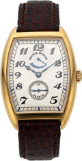 Timepieces:Wristwatch, Franck Muller Ref. 2852 PR Gent's Gold Wristwatch, No. 02. ...