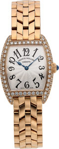 Timepieces:Wristwatch, Franck Muller Ref. 2251 MC D Lady's Fine Gold & Diamond Watch. ...