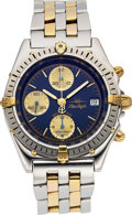 """Timepieces:Wristwatch, Breitling B13048 """"Blue Angels"""" Steel & Gold Chronograph, Box& Papers. ..."""