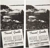 Lot of Two Travel Guide of Negro Hotels and Guest Houses