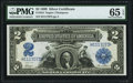 Large Size:Silver Certificates, Fr. 254 $2 1899 Silver Certificate PMG Gem Uncirculated 65 EPQ.. ...