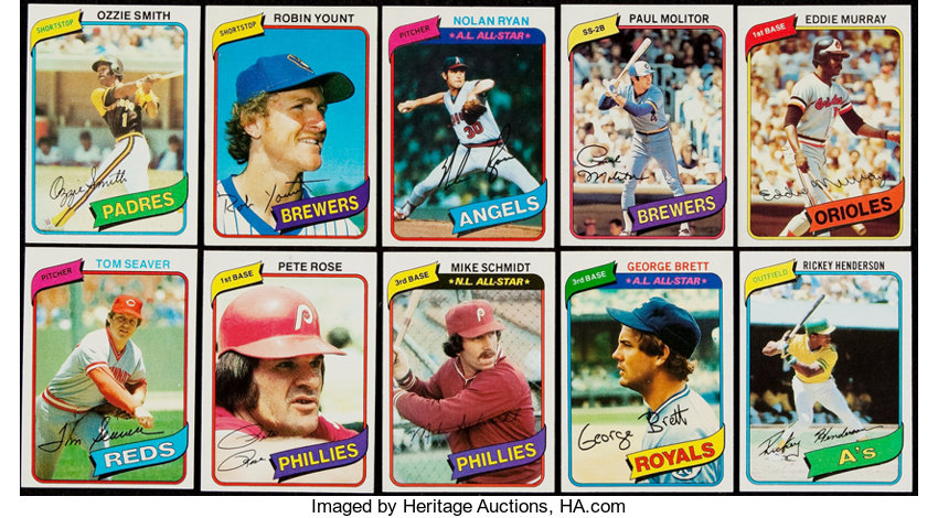 1980 Topps Baseball Complete Set 726 Baseball Cards Sets