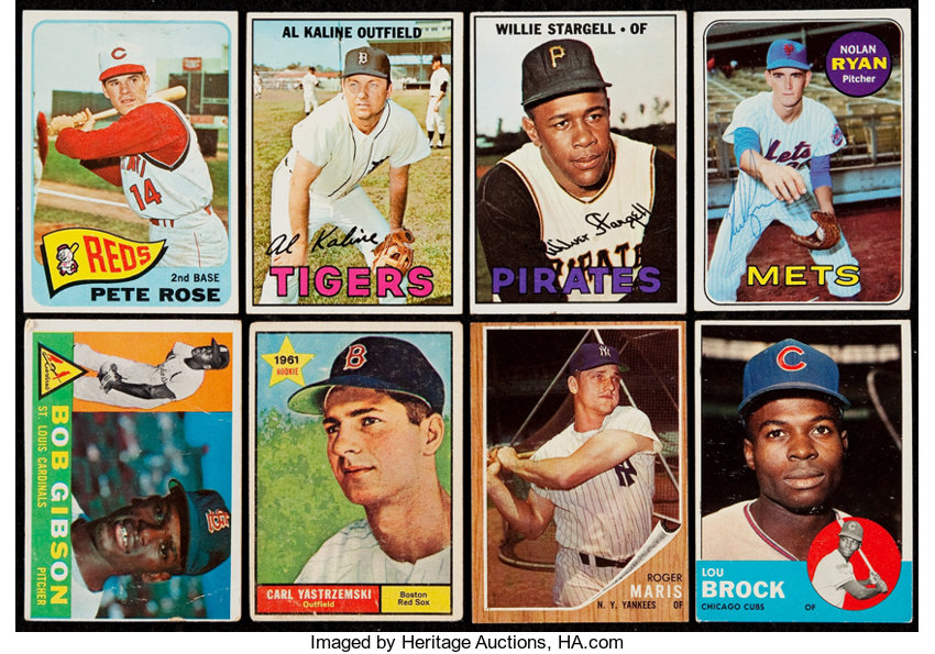 1960 69 Topps Baseball Collection 180 With Signed 1969 Topps