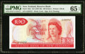 New Zealand Reserve Bank of New Zealand 100 Dollars ND (1967-68) Pick 168a PMG Gem Uncirculated 65 EPQ