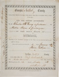 Antiques:Black Americana, State of Georgia, Talbot County Marriage License for a Freedman andFreedwoman, 1868....