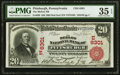 National Bank Notes:Pennsylvania, Pittsburgh, PA - $20 1902 Red Seal Fr. 639 The Mellon NB Ch. # (E)6301 PMG Choice Very Fine 35 EPQ.. ...
