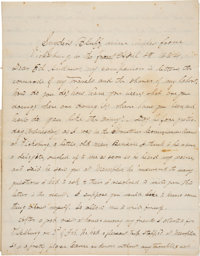 Excellent Content Autograph Letter Signed by Charles Waldron Buckley, as Chaplain of the 47th Colored Infantry Regiment...