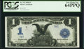 Large Size:Silver Certificates, Fr. 233 $1 1899 Silver Certificate PCGS Very Choice New 64PPQ.. ...