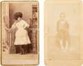 """Photography:CDVs, Cartes de Visite of """"Illavaro the Egyptian"""" and Nathan T. Burrows...."""