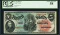 Fr. 64 $5 1869 Legal Tender PCGS Choice About New 58