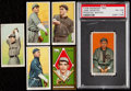 Baseball Cards:Lots, 1909-11 T206 & T205 Tobacco Baseball Lot (6) With PSA. ...