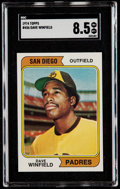 Baseball Cards:Singles (1970-Now), 1974 Topps Dave Winfield #456 SGC NM/MT+ 8.5....