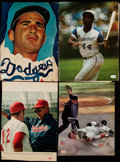Baseball Collectibles:Photos, Baseball Greats Signed Magazine Page Photos (4) - Includes Ted Williams & Sandy Koufax....