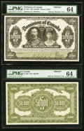 Canadian Currency, DC-39P $50,000 1924 Front and Back Proofs PMG Choice Uncirculated64.. ... (Total: 2 notes)