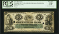 Obsoletes By State:Massachusetts, Greenfield, MA- Greenfield Bank $20 May 1, 1862 34a PCGS Very Fine30.. ...