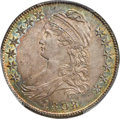 Bust Half Dollars, 1808/7 50C O-101, R.1, MS64 PCGS Secure. CAC....