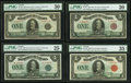 Canadian Currency, An Octet of DC-25 PMG Graded $1 Varieties.. ... (Total: 8 notes)