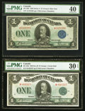 Canadian Currency, DC-25d $1 1923 PMG Very Fine 30 EPQ;. DC-25h $1 1923 PMG Extremely Fine 40.. ... (Total: 2 notes)