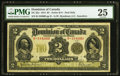 Canadian Currency, DC-22e $2 1914 PMG Very Fine 25.. ...