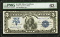 Large Size:Silver Certificates, Fr. 281 $5 1899 Silver Certificate PMG Choice Uncirculated 63 EPQ.. ...