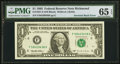 Error Notes:Inverted Reverses, Fr. 1921-E $1 1995 Federal Reserve Note. PMG Gem Uncirculated 65 EPQ.. ...