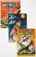 Golden Age (1938-1955):War, Wings Comics and Air Ace Group of 4 (Various, 1940s).... (Total: 4Comic Books)