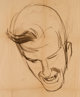 Jerry Robinson - Headshot Sketch Original Art (1952)