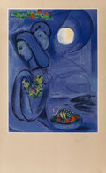 Fine Art - Work on Paper:Print, After Marc Chagall. By Charles Sorlier. Saint Jean CapFerrat, 1952. Lithograph in colors on paper. 39-1/8 x 24-1/2...
