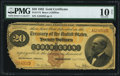 Large Size:Gold Certificates, Fr. 1174 $20 1882 Gold Certificate PMG Very Good 10 Net.. ...