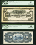 Canadian Currency, Quebec, PQ- The Quebec Bank $10 1.6.1908 Ch. # 620-48-04-04-UNL Face and Back Proofs PCGS New 62; Very Choice New 64.. ... (Total: 2 notes)