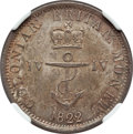 British West Indies, British West Indies: British Colony. George IV 1/4 Dollar 1822 MS63NGC,...