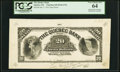 Canadian Currency, Quebec, PQ- The Quebec Bank $20 3.1.1911 Ch. # 620-50-06-UNL Face Proof PCGS Very Choice New 64.. ...