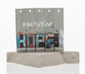 Fine Art - Sculpture, American, Banksy X The Walled Off Hotel . Souvenir Wall Section, 2017.Painted cast resin with concrete. 5-1/4 x 5 x 3-1/2 inches ...(Total: 2 Items)