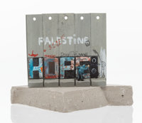 Banksy X The Walled Off Hotel Souvenir Wall Section, 2017 Painted cast resin with concrete 5-1/4... (Total: 2)