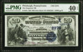National Bank Notes:Pennsylvania, Pittsburgh, PA - $20 1882 Date Back Fr. 552 The Duquesne NB Ch. # (E)2278 PMG Extremely Fine 40 EPQ.. ...