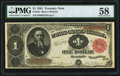 Large Size:Treasury Notes, Fr. 352 $1 1891 Treasury Note PMG Choice About Unc 58.. ...