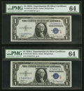 Small Size:Silver Certificates, Fr. 1609/1610 $1 1935A R and S Silver Certificates. PMG Choice Uncirculated 64.. ... (Total: 2 notes)