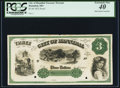 Obsoletes By State:Missouri, Hannibal, MO- City of Hannibal $3 ___ 1872 Proof PCGS Extremely Fine 40.. ...