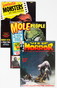 Assorted Silver Age Horror Magazines Group of 19 - White Mountain Pedigree (Various Publishers,1956-72) Condition: Avera...