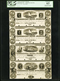 Obsoletes By State:Florida, Apalachicola, FL- Commercial Bank of Florida $2-$2-$3-$4 18__ as G4-G4-G6-G8, as Benice 15-15-16-17 Uncut Proof Sheet PCGS...