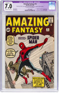 Silver Age (1956-1969):Superhero, Amazing Fantasy #15 (Marvel, 1962) CGC Apparent FN/VF 7.0 Slight/Moderate (C-2) Off-white to white pages....