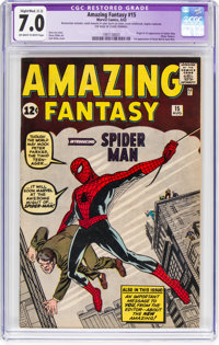 Amazing Fantasy #15 (Marvel, 1962) CGC Apparent FN/VF 7.0 Slight/Moderate (C-2) Off-white to white pages