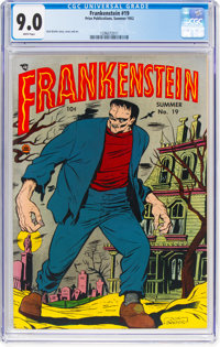 Frankenstein Comics #19 (Prize, 1952) CGC VF/NM 9.0 White pages
