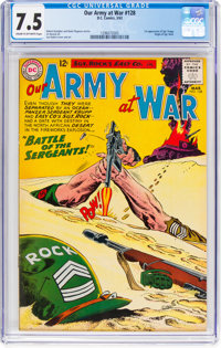 Our Army at War #128 (DC, 1963) CGC VF- 7.5 Cream to off-white pages