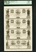 Obsoletes By State:Florida, Apalachicola, FL- Commercial Bank of Florida $10-$10-$10-$20 18__ as G12-G12-G12-G14, as Benice 19-19-19-20 Uncut Proof Shee...