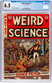 Weird Science #13 (EC, 1952) CGC FN+ 6.5 Off-white to white pages