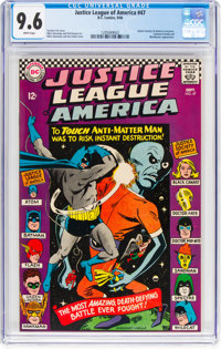 Justice League of America #47 (DC, 1966) CGC NM+ 9.6 White pages