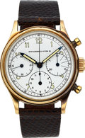 Timepieces:Wristwatch, Abercrombie & Fitch, Vintage Chronograph, 14K Yellow Gold, Manual Wind, Circa 1950s. ...