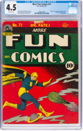 Golden Age (1938-1955):Superhero, More Fun Comics #71 (DC, 1941) CGC VG+ 4.5 Off-white pages....